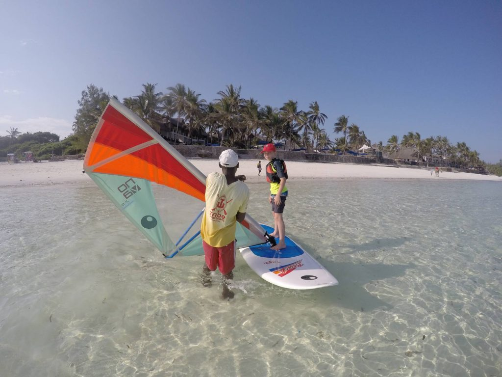 windsurfing in watamu